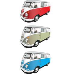 Minibus set vector