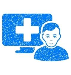 Online medicine grainy texture icon vector