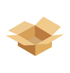 opened cardboard package box vector image