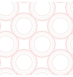 Pink rings abstract seamless pattern on white vector