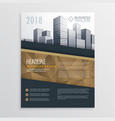 Real estate brochure flyer template design with vector