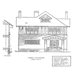 Resident front elevation elevations of vector
