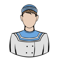 Sailor icon cartoon vector