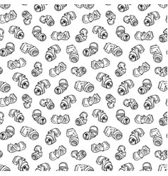 seamless pattern of recyclable materials hand vector image vector image