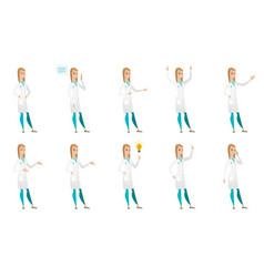 Set of doctor characters vector