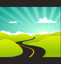 Summer holidays road vector