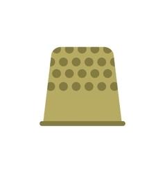 Thimble flat icon vector