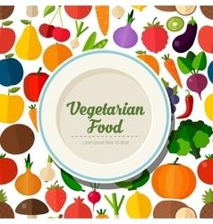 Vegetarian food background vector image vector image
