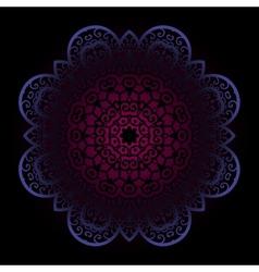 Violet mandala on dark background vector image vector image