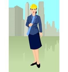 Woman architect vector
