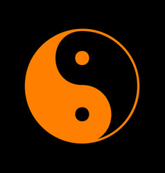 Ying yang symbol of harmony and balance orange vector
