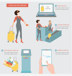 Check in airport vector