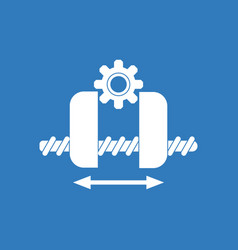 icon gears and wheels vector image