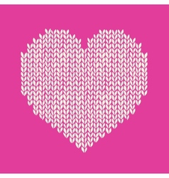 Seamless background with knitted heart romantic vector