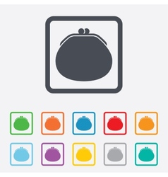 Wallet sign icon cash bag symbol vector