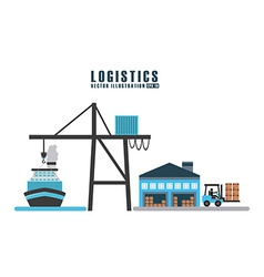 Transport logistics vector