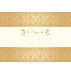 decorative frame gold vector