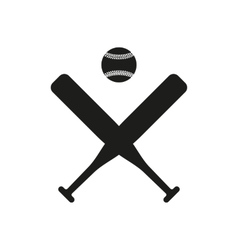 The baseball icon sport symbol flat vector