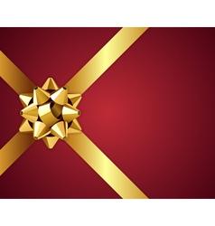 christmas golden bow vector image