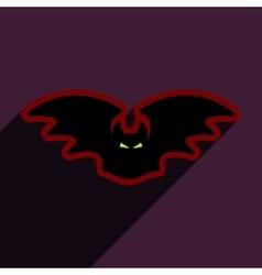 Flat with shadow icon bat on bright backgrounds vector