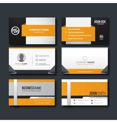 Stylish yellow visit card vector