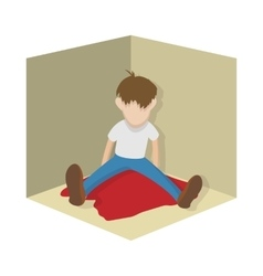 Suicide icon cartoon style vector