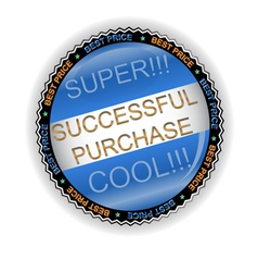 New successful purchase icon vector