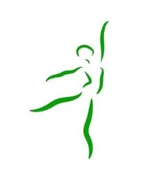Dancing ballerina performs a jump vector image