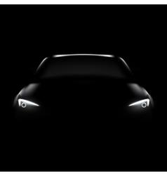 dark car with headlight vector image
