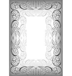 Abstract silver frame vector image