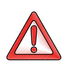 alert signal isolated icon vector image vector image