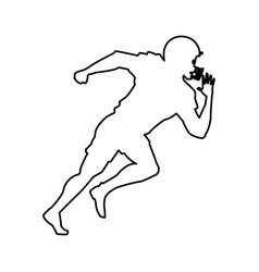 American footbal player silhouette image vector