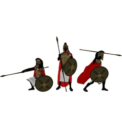 ancient warriors vector image vector image