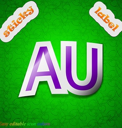 australia icon sign Symbol chic colored sticky vector image vector image