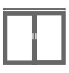 Bedroom windows isolated icon vector