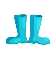Blue rubber boots icon cartoon style vector