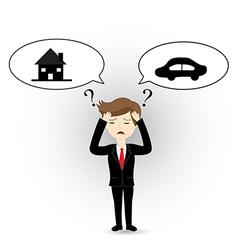 Businessman headache vector image vector image