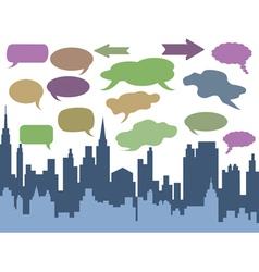 city talk vector image vector image