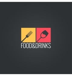 food an drinks menu design background vector image vector image