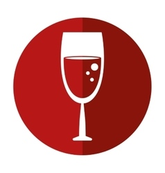 glass wine drink shadow vector image