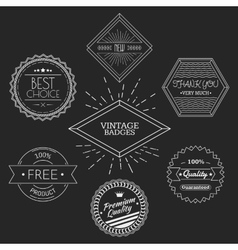 Guarantee quality thank you best choice vintage vector image