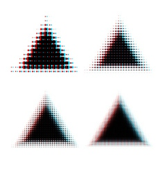 Halftone triangle design elements vector image vector image