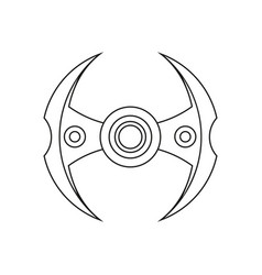 hand spinner stress relief ridget toy icon use in vector image