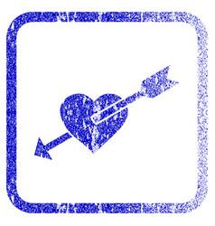 Heart arrow framed textured icon vector
