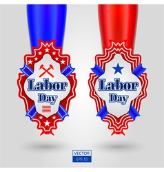 Labor day emblems vector