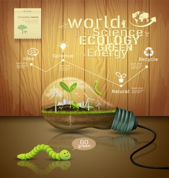 Light bulb ecology concept design vector image