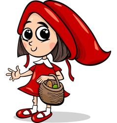 little red riding hood cartoon vector image vector image