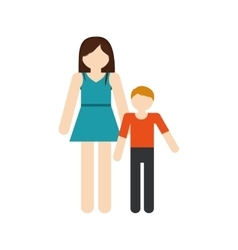 Mother and son family reunion vector