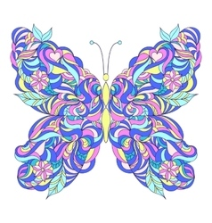 Motley abstract butterfly vector