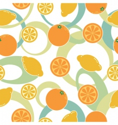 orange and lemon pattern seamless vector image vector image